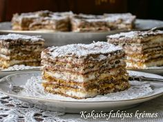 Kakaós-fahéjas krémes Sweet Cookies, Cake Cookies, Sweet Treats, Hungarian Recipes, Food Dishes, Fudge, Food Porn, Food And Drink, Cooking Recipes