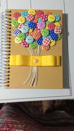 Ready to make school exciting with these DIY notebook decorating ideas? Use these ideas for your notebooks & make school a fun affair for yourself and your kids. Frame Crafts, Book Crafts, Diy And Crafts, Crafts For Kids, Arts And Crafts, Paper Crafts, Notebook Cover Design, Notebook Covers, Button Art