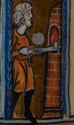 Detail from medieval manuscript, British Library Stowe MS 17 'The Maastricht Hours' f12r