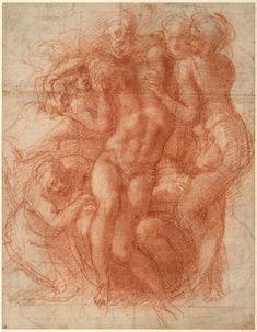 Michelangelo_Buonarroti - Lamentation (recto), c. 1530