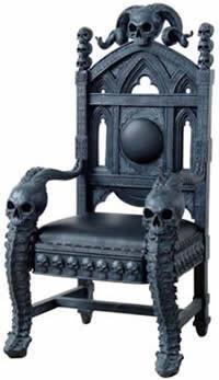 관련 이미지 Skull Furniture Cool Gothic Design Chair