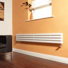 Sleek and simple: the Aruba narrow designer radiator in white.