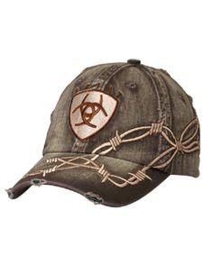 5661b40ab8c Ariat Logo Cap - Barbwire