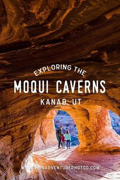 Exploring Moqui Caverns, Kanab, UT Zion Photographer, Adventures in Zion National Park & Southern Utah Oh The Places You'll Go, Places To Travel, Travel Destinations, Family Adventure, Adventure Travel, Adventure Awaits, Wyoming, Nationalparks Usa, Kanab Utah