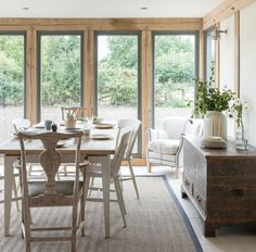 oak Garden room Show home garden room Window Frame Colours, Border Oak, Self Build Houses, Thatched House, Dining Room Inspiration, Home Fashion, Ideal Home, House Design, House Styles