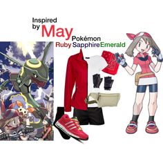 0375828bfcb May (Pokemon Ruby Sapphire Emerald) by thechumbles on Polyvore featuring  Warehouse