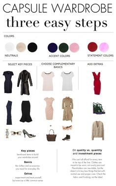 How to Build a Minimalist Capsule Wardrobe In Three Steps by cornelia