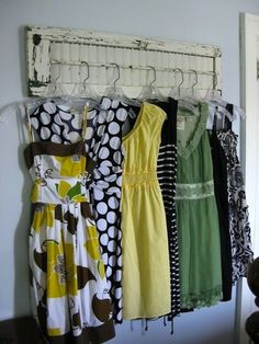 Clothing Display--a really cool idea to hand some of your clothes...like preparing clothing for the morning meeting.  Or in a laundry room for stuff that needs to be ironed before putting away, etc.