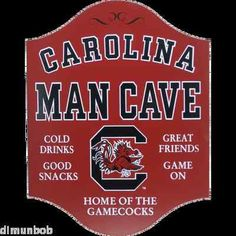 University of South Carolina Gamecocks Man Cave Game Room Sign (USC 104) | eBay $39.99