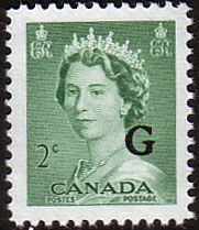 Canada 1953 SG O197 Official Overprint G Fine Mint Scott O34    Other Canadian Stamps HERE