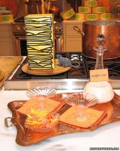 Treats for Small Hands Small dishes of treats adorn the stovetop and ...