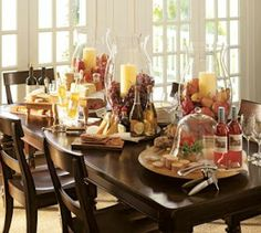 Wine and Cheese Party Spread...