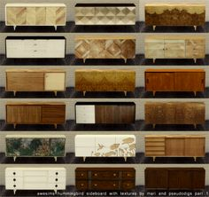 Chisami's June buy stuff dump part - Awesims hummingbird sideboard with textures by Mari and pseudodigs 1.