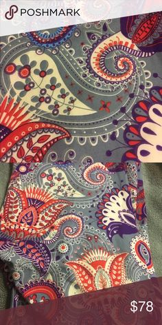 NWOT TC LLR Paisley Leggings!!  These never worn gray Paisley LuLaRoe leggings are amazing!  I ended up with two pairs so my gain is your gain!!! LuLaRoe Pants Leggings