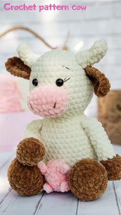 Crochet Pet Amigurumi Pet Amigurumi Cow Crochet Cow Pattern Crochet Toy Pattern Toy For Kids Crochet Pattern Cow Crochet Cow, Crochet Geek, Easter Crochet, Cute Crochet, Crochet For Kids, Crochet Ideas, Crochet Animal Patterns, Crochet Animals, Sewing Patterns