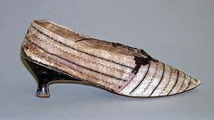 Slippers, French, 1785-90, leather. Metropolitan Museum of Art