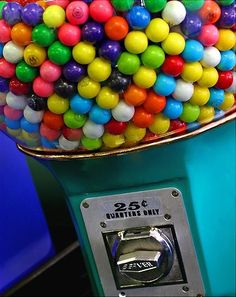 This is so me. If I could have a gigantic gum ball machine in my house like this one, I would. #TrueStory