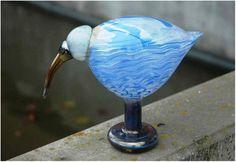 2010, Oiva Toikka, Ibis, Leerdam, unique, experiment/kokeilu Wine Glass, Glass Art, Glass Birds, Scandinavian Design, Experiment, Finland, Gift Ideas, Glasses, Unique