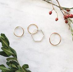 Stacking Rings from Kara Yoo Jewelry