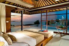 спальня,спальня с видом на море,роскошная спальня,простор,уют,море