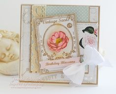 Inspired by Stamping Garden Seed Packets Stamp Set and Vintage Paper - Birthday Card