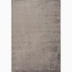 @Overstock - Hand-Made Gray/ Tan Art Silk/ Chenille Modern Rug (9x12) - This rug tells a unique story. This rug, crafted in machine-tufted viscose