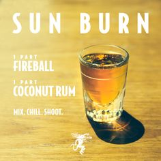 Looking for Fireball Whisky Recipes? Here are 10 awesome shooters to try this we… Looking for Fireball Whisky Recipes? Here are 10 awesome shooters to try this weekend. Fireball Drinks, Fireball Recipes, Alcohol Drink Recipes, Alcohol Shots, Shooters Alcohol, Whiskey Cocktails, Cheap Alcoholic Drinks, Drink Recipes, Cocktail
