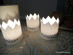 Otra idea para decorar el día o la noche de los Tres Reyes Magos.