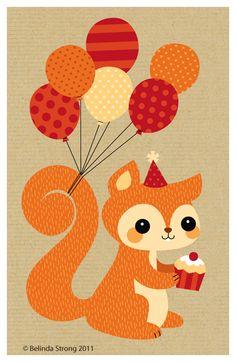 Happy Birthday squirrel - bjl