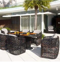 Modern Contemporary Outdoor Dynasty Dining Set by Skyline