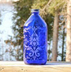 Vintage Phillips Milk of Magnesia Bottle by SolMateGlassStudio
