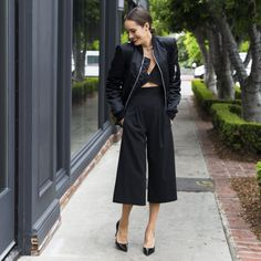 Front Roe by Louise Roe | Paris Fashion Week Style | Bomber Jacket & Jumpsuit