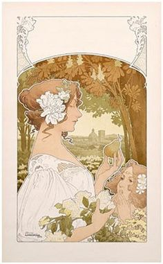art nouveau woman - Google Search