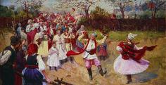 Wincenty Wodzinowski Wesele idzie 1896 ol. p. Muzeum Narodowe w Poznaniu nr inw.jpg (1181×609)
