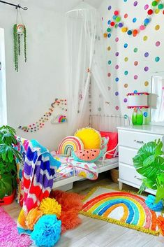 Love how has styled the 'Cali Rainbow' Bath Mat and the 'Sun Parasol' cushion in her home. What a cute kids bedroom!