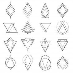 Conjunto de elementos geométricos minima... | Premium Vector #Freepik #vector #etiqueta #abstracto #circulo #adorno