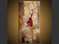 Hand painted Oil Canvas Wall Art Home Decor Abstract dance NO Frame Art Original, Original Paintings, Ballet Painting, African Art Paintings, Great Works Of Art, Encaustic Art, Foto Art, Stone Painting, Beautiful Paintings