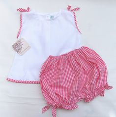 Monogram baby girl bloomer blouse set clearance monogrammed baby monogram baby girl bloomer blouse set clearance monogrammed baby bloomer set pink gingham baby outfit free personalization 3m6m negle Images