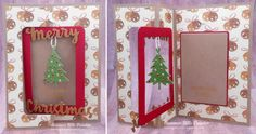 Summer Hills-Painter using the Pop it Ups Rectangle Pull Card, Holiday Charms, Merry Christmas die sets by Karen Burniston for Elizabeth Craft Designs