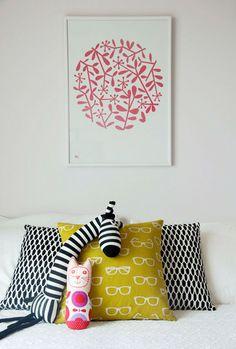 fun mix of patterns + prints