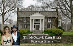 Tim McGraw and Faith Hill's Tennessee Country Log Estate For Sale ~ click for interior photos