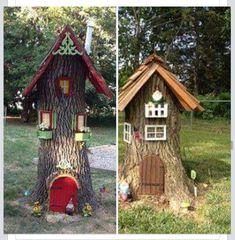 Cute idea for tree stumps
