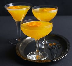 Clementinis. This sparkling, citrus cocktail is one to serve at a celebration. Blend clementine juice with vodka, orange liqueur and fizz