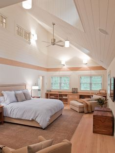 I could breathe in this room. Love the ceiling!
