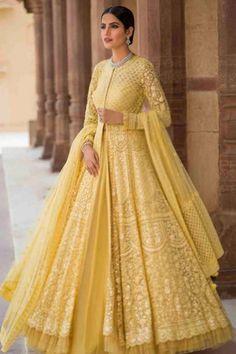 western yellow dress indo net Yellow Net Indo Western DressYou can find Western dresses and more on our website Indian Gowns Dresses, Indian Fashion Dresses, Indian Designer Outfits, Pakistani Clothing, Pakistani Outfits, Indian Outfits, Lehnga Dress, Anarkali Lehenga, Lehenga Suit