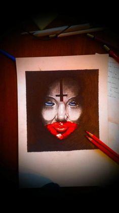 Illustration-tattoo on sketch (on paper) by Aleksandr Set Satan, Tattoo Photos, Halloween Face Makeup, Sketch, Girly, Tattoos, Paper, Illustration, Painting