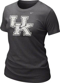 Kentucky Wildcats Shirt | Show some appreciation for the Kentucky Wildcats in this Kentucky Wildcats Women's Nike Charcoal Graphic T-Shirt by Nike. This item features a screen printed design that includes the Wildcats logo. Made from quality material, this t-shirt won't buckle under pressure.