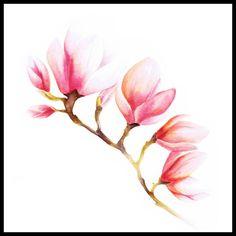 Magnolia, 30x30 cm - Art print - TAVLOR & POSTERS