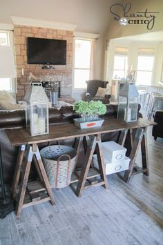 Faux Wood floors by @shanty2chic #TheTileShop