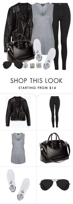Style #10080 by vany-alvarado ❤ liked on Polyvore featuring Zara, Topshop, Givenchy, adidas Originals and Ray-Ban